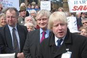 Boris Johnson, M.P. for Henley with Liberal Democrat M.P. John Hemming at a demonstration against hospital closures - Copyright: johnhemming on Flickr